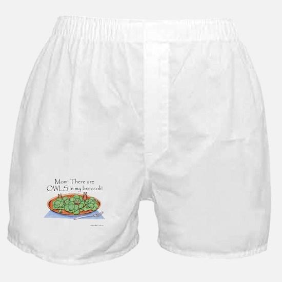 Cute Broccoli Boxer Shorts