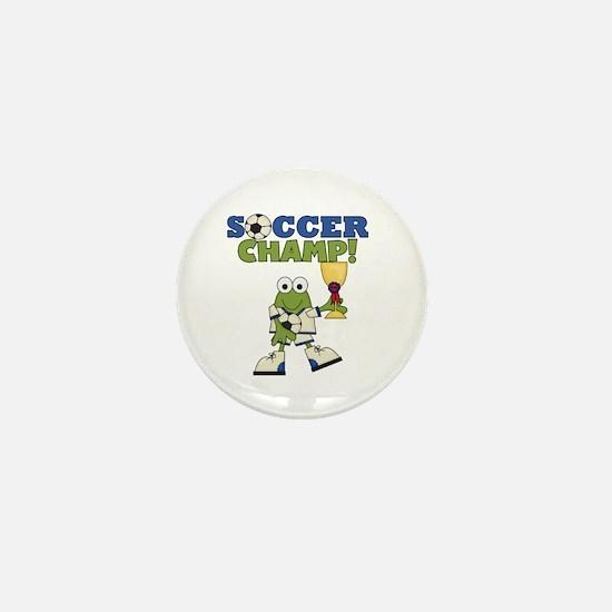 Frog Soccer Champ Mini Button