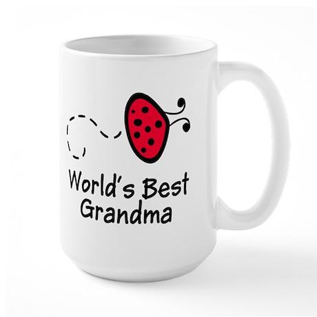 Ladybug Grandma Large Mug