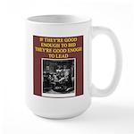 duplicate bridge player gifts Large Mug