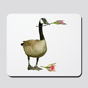 Canada Goose With Rose Mousepad