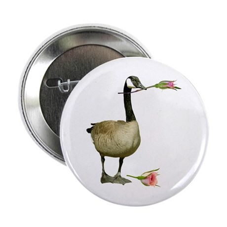 """Canada Goose With Rose 2.25"""" Button"""