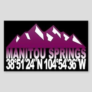 Manitou Springs Sticker (Rectangle)