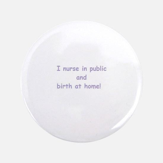 "Unique Breast feeding 3.5"" Button (100 pack)"
