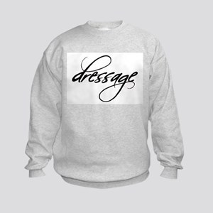 dressage (black text) Kids Sweatshirt