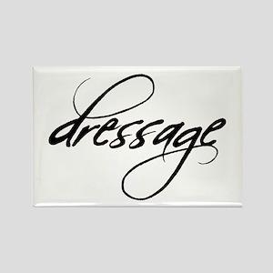 dressage (black text) Rectangle Magnet