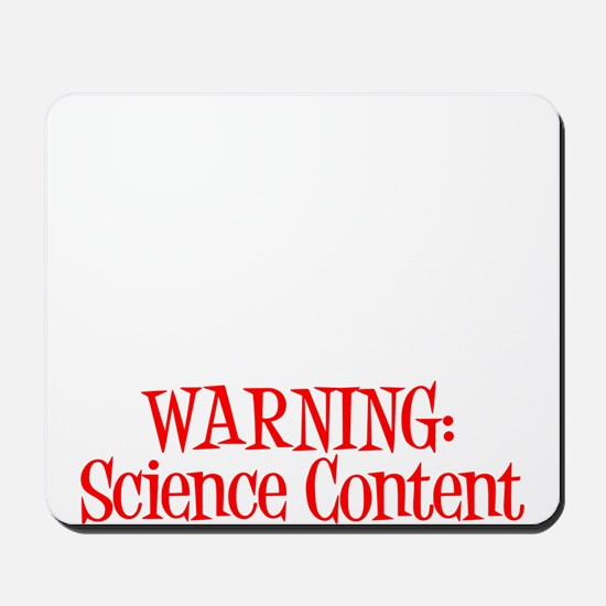 Warning! Science Mousepad