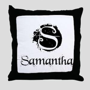 Samantha Grunge Throw Pillow