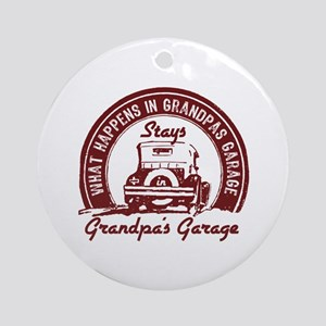 Grandpa's Garage Ornament (Round)