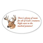 God's Creatures Oval Sticker