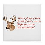 God's Creatures Tile Coaster