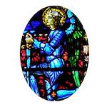 Saint Michal Oval Ornament