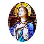 Virgin Mary Oval Ornament