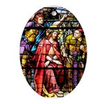 The Jesus Crowned with Thorns Oval Ornament
