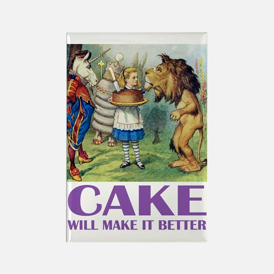 CAKE WILL MAKE IT BETTER Rectangle Magnet