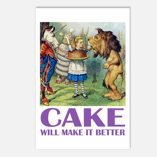 CAKE WILL MAKE IT BETTER Postcards (Package of 8)