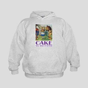 CAKE WILL MAKE IT BETTER Kids Hoodie