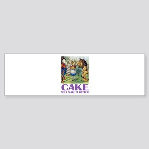 CAKE WILL MAKE IT BETTER Sticker (Bumper)