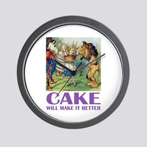 CAKE WILL MAKE IT BETTER Wall Clock