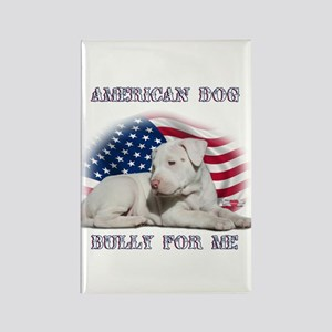 Bully for Me, American Dog Rectangle Magnet