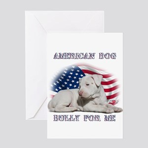 Bully for Me, American Dog Greeting Card