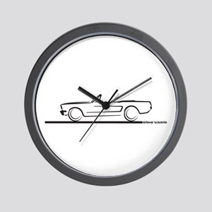 1966 Mustang Convertible Wall Clock