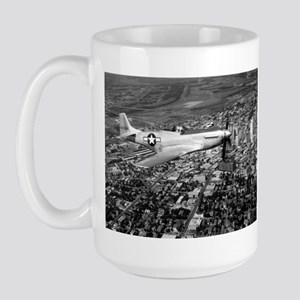 P-51 Over Dallas Large Mug