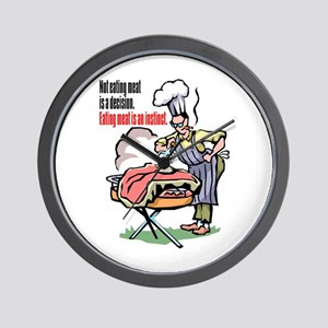 MEAT IS A DECISION Wall Clock