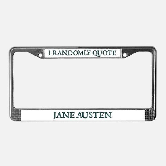 Jane Austen Randomly Quote #2 License Plate Frame