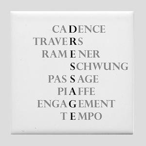 dressage language Tile Coaster