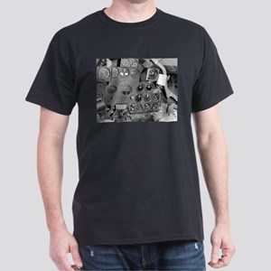 P-38 Cockpit Black T-Shirt