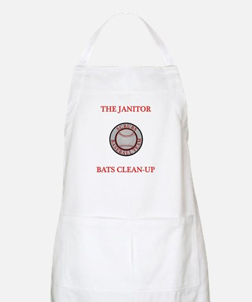 The Janitor Bats Clean-Up Apron
