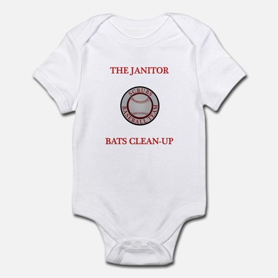 The Janitor Bats Clean-Up Infant Bodysuit