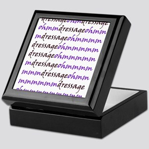 dressage ohm (purple) Keepsake Box