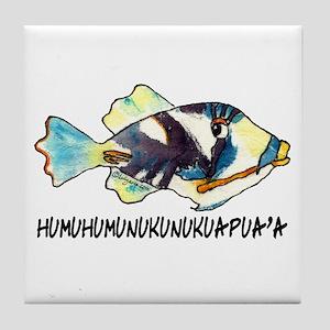 Humuhumu Fish Tile Coaster
