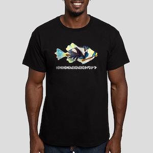 Humuhumu Fish Men's Fitted T-Shirt (dark)