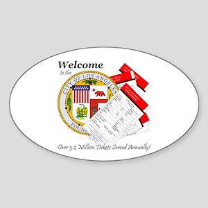 Los Angeles Parking Tickets Sticker (Oval)