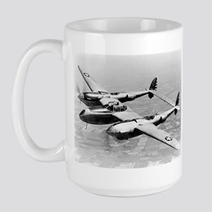 P-38 In Flight Large Mug
