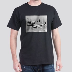 P-38 In Flight Black T-Shirt