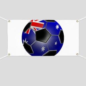 Australian Flag Soccer Ball Banner