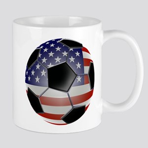 US Flag Soccer Ball Mug