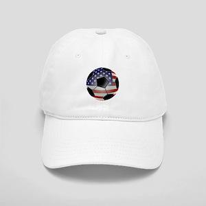 US Flag Soccer Ball Cap