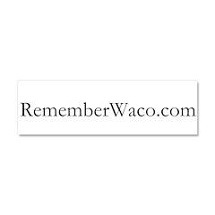 Rememberwaco.com Car Magnet 10 X 3 (black Text)