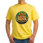 End Electro-Shock Brutality Yellow T-Shirt