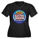 End Electro-Shock Brutality Women's Plus Size V-Ne