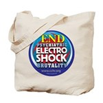 End Electro-Shock Brutality Tote Bag