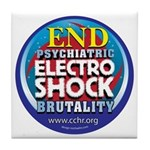 End Electro-Shock Brutality Tile Coaster