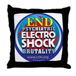 End Electro-Shock Brutality Throw Pillow