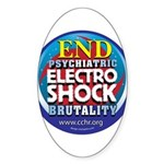 End Electro-Shock Brutality Sticker (Oval)