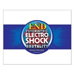 End Electro-Shock Brutality Small Poster